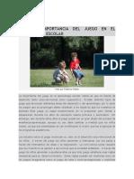 EL JUEGO Y APRENDIZAJE ESCOLAR.doc