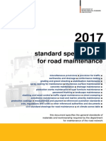 std specification for road maintainance