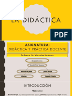 Epistemologia de la Didactica