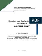 Diretriz SiNAT 004 - R01 (Concreto-PVC)