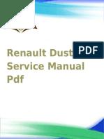 Renault Duster Servicio Manual PDF español