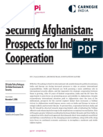 Securing Afghanistan - Prospects for India EU Cooperation