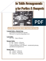 Banquet Style Table Seating Chart Free PDF