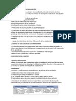 Definición Del Sistema de Evaluación