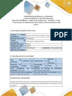 Guía de actividades y rúbrica de evaluación. Unidad 1 Fase 1- Reconocer la importancia de la Danza. Reconocimiento del curso
