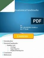 Anatomical landmarks