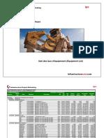 910- Liste Des Taux d'Équipement Equipment List