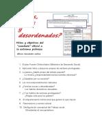 """Estudio """"¿Flojos, Sucios y Desordenados?"""". Alfonso Hernández Molina. Chile. 2015"""
