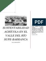 Sustentabilidad Agrícola en El Valle Del Río Supe-barranca