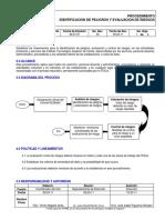 Procedimiento Identificación de Peligros Evaluación y Control Riesgo