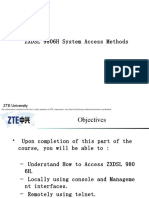 ZXDSL 9806H System Access Methods
