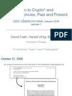 Crypto Lecture 1