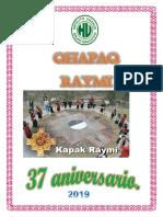 Proyecto Qhapaq Raymi 2019