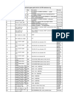 XJ750 Two Year Spare Parts List