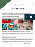 tipos de trastorno del espectro autista