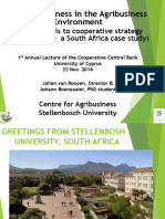 Competitiveness in the Agribusiness Environment