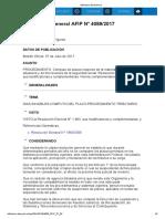Rg 4089-17 Procedimiento Tributario Cómputo de Plazos