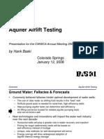 Aquifer Airlift Testing