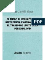 EL MIEDO AL RECHAZO EN LA DEPENDENCIA EMOCIONAL Y EN EL TRASTORNO LÍMITE DE LA PERSONALIDAD