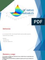 Sesion 1. Funciones de Varias Variables