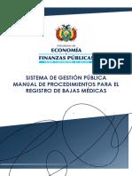 Manual de procedimiento para bajas médicas en bolivia