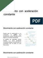 Movimiento Con Aceleración Constante