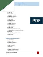 Ingles CCJ Online Tema 2. Nivel Intermedio. Adjetivos Vocabulario