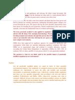 Genetically Modified OrganismsPanel Discussion Script