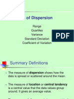 UNIT III -Measures of Dispersion