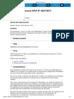 Rg 4021-17 Ley 27260 Régimen de Sinceramiento Fiscal.