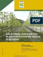 Guía de Manejo y buenas prácticas de aplicación de enmiendas orgánicas en agricultura