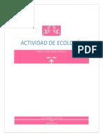ECOLOGÍA 2°Parcial Activs. de Aprendizaje 2019