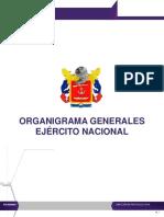 Organigrama Generales Ejercito