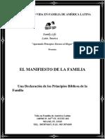 El Manifesto de La Familia