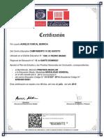 Aurelio Furcal Berroa Certificado