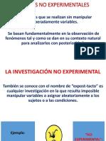 Clase 3 Investigacion II Diseños No Experimentales