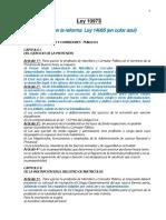 Ley 14085 - Reforma Ley 10973