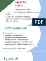 Types of Speech Styles