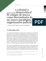 Justicia colonial o justicia democrática