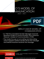 Purposive Communication - Berlo's Model of Communication