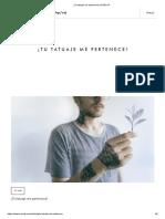 ¡Tu Tatuaje Me Pertenece! - PONS IP (España)