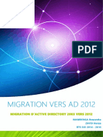 Migration Active Directory 2003 Vers 20123
