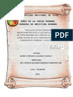 """Tesis """"Relación Entre Síndrome Bronco-obstructivo y Lactanci"""
