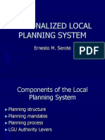Rationalized Local Planning System
