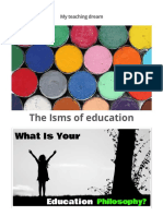 The ISMS of Education - My Teaching Dream