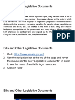 Bills and Other Legislative Documents