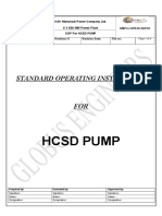 Sop for Hcsd Pump