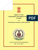 Report No.22 of 2017 - Performance Audit Union Government Electrification Projects Reports of Indian Railways