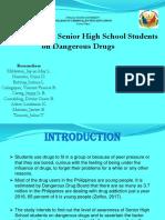 Awareness of Senior High School Students   on Dangerous Drugs