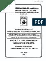 Industria Artesanal Del Carbón Vegetal en El Perú - Monografía